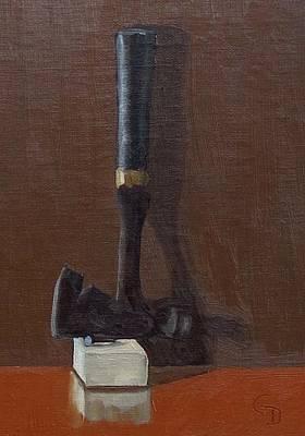 Painting - Carpenter's Hatchet #2 by Grace Diehl