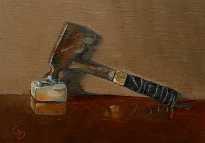 Painting - Carpenter's Hatchet #1 by Grace Diehl
