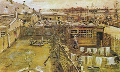 Mixed Media - Carpenters Shop Seen From Vincent's Room by Vincent van Gogh