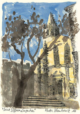 Painting - carpentras Provence Saint Siffrein by Martin Stankewitz