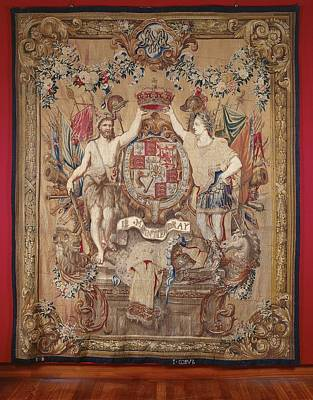 Tapestry - Textile - Carpet Arms Of King William IIi  by R Muirhead Art