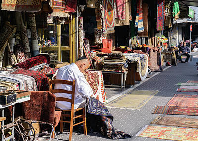 Photograph - Carpet Maker In Jaffa, Israel by Alexandre Rotenberg