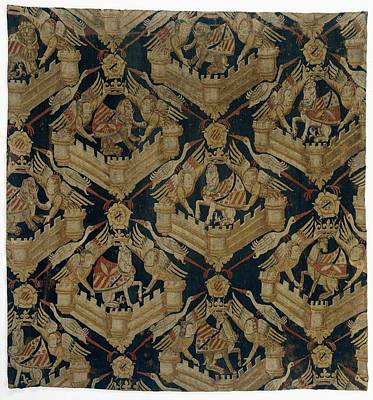 Textile Tapestry Carpet With The Arms Of Rogier De Beaufort Art Print