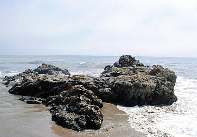 Photograph - Carpinteria State Beach Rocks by Bransen Devey