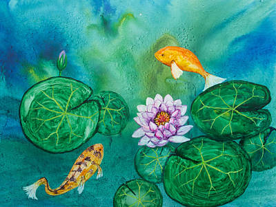 Painting - Carps And Lilies by Patricia Beebe