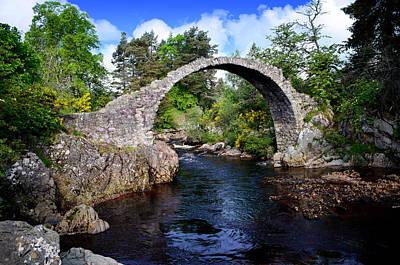 Photograph - Carr Bridge Scotland by Don and Bonnie Fink