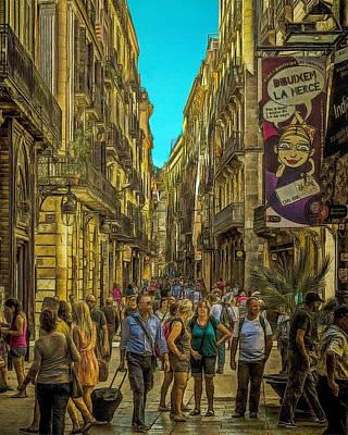 Streetscape Digital Art - Carrer De La Cirera by Dan Mintici
