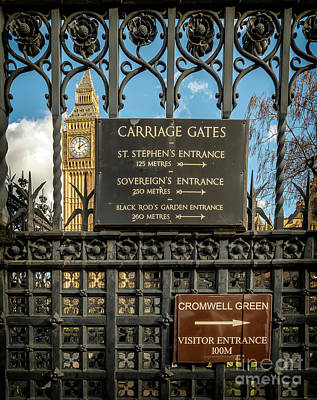 Photograph - Carriage Gates London by Adrian Evans