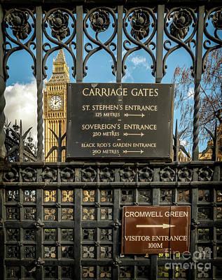 Carriage Gates London Art Print