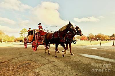 Carriage Ride In The Fall Print by Rachel Morrison