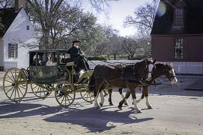 Carriage Ride In The Winter Art Print