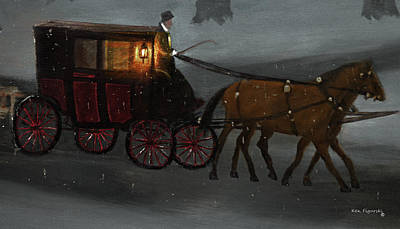 Rain Painting - Carriage Ride by Ken Figurski