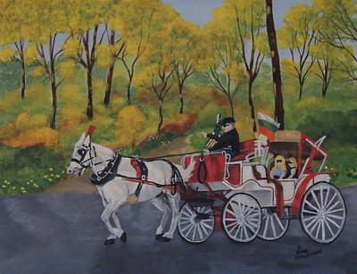 Wall Art - Painting - Carriage Ride by Lisa MacDonald