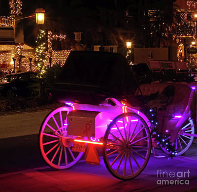 Photograph - Carriage Ride Night Of Lights by D Hackett