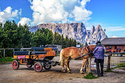 Photograph - Carriage Rides In Alpe Di Siusi by Carolyn Derstine
