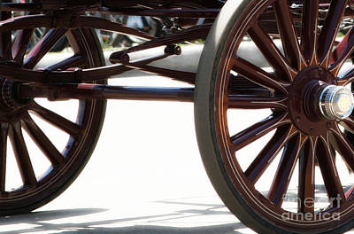Photograph - Carriage Wheels by Linda Shafer