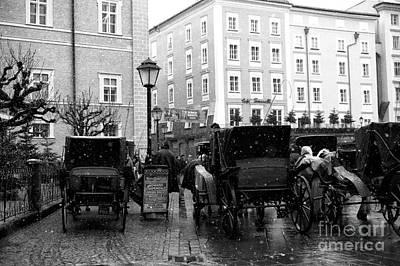 Carriages In Salzburg Art Print