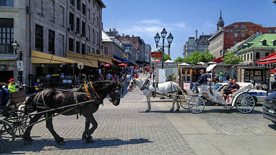 Old Montreal Photograph - Carriages Of Old Port Montreal by Melissa Hicks