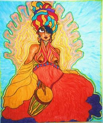 Drawing - Carribean Princess by Rae Chichilnitsky