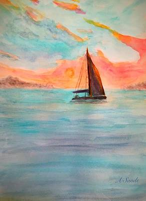 Painting - Carribean Sails by Anne Sands