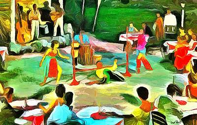 Carribean Scenes - Calypso And Limbo Art Print by Wayne Pascall