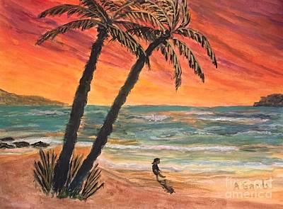 Painting - Carribean Sunset by Anne Sands