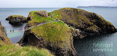 Photograph - Carrick-a-rede Rope Bridge Northern Ireland by Lexa Harpell