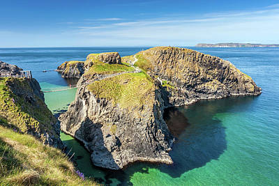 Best Ocean Photograph - Carrick-a-rede Rope Bridge by Pierre Leclerc Photography