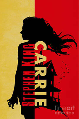 Paranormal Drawing - Carrie By Stephen King Book Cover Movie Poster Art 3 by Nishanth Gopinathan