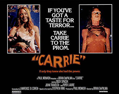 1970s Movies Photograph - Carrie, Sissy Spacek, 1976 by Everett