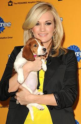 Press Conference Photograph - Carrie Underwood At A Public Appearance by Everett