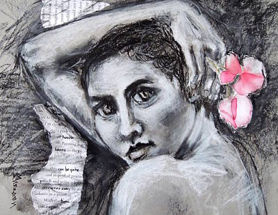 Drawing - Carried Away by Mary Schiros