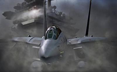 Fighter Digital Art - Carrier Breath by Dorian Dogaru