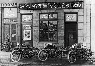 Photograph - Carriker And Crowl Vintage Indian Motorcycles by Doc Braham