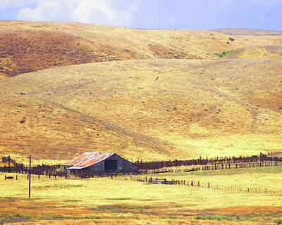 Photograph - Carrizo Barn by Timothy Bulone