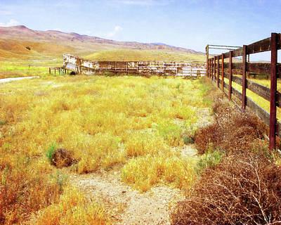 Photograph - Carrizo Cattle Chute by Timothy Bulone