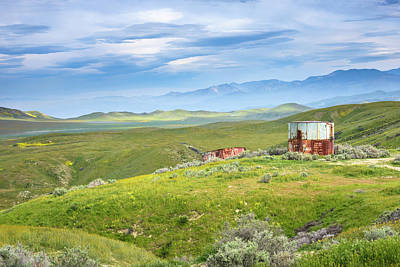 Photograph - Carrizo Plain - Old Water Tanks by Alexander Kunz