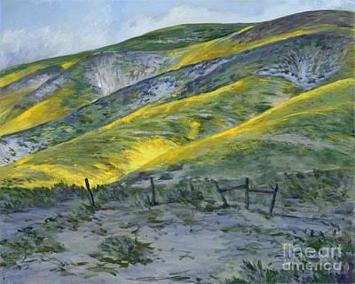 Painting - Carrizo Spring Mustard by Betsee Talavera
