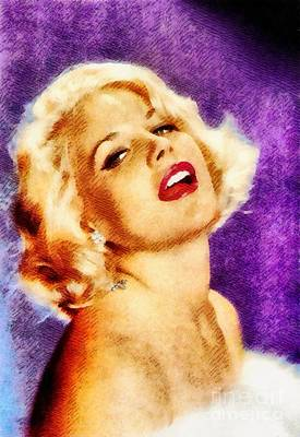 Royalty-Free and Rights-Managed Images - Carroll Baker, Vintage Actress by John Springfield by Esoterica Art Agency