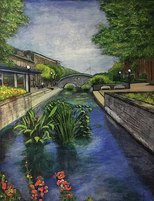 Painting - Carroll Creek Revisited by Ron Richard Baviello