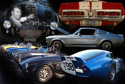 Carroll Shelby Tribute Art Print by Bill Dutting