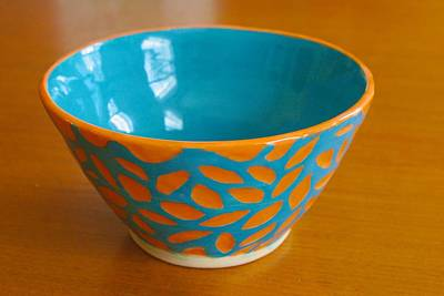 Ceramic Art - Carrot Bowl by Polly Castor