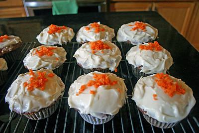 Photograph - Carrot Cake Cupcakes by Kay Novy