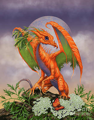 Carrot Dragon Art Print