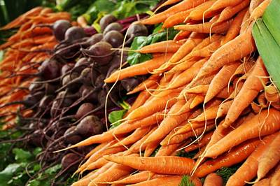 Farmers Market Digital Art - Carrots And Beets by Cathie Tyler