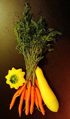 Photograph - Carrots And Squash by Allen Nice-Webb