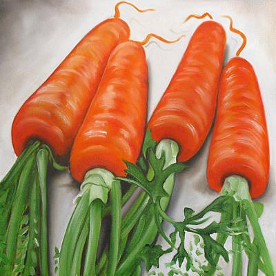 Vegetables Painting - Carrots by Ilse Kleyn
