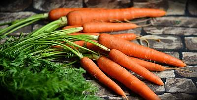 Photograph - Carrots by Tilen Hrovatic