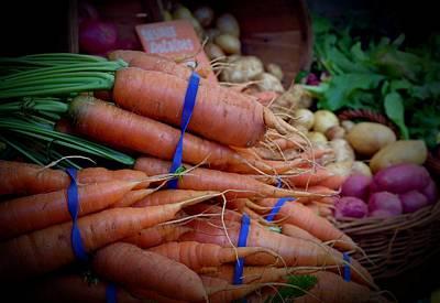 Photograph - Carrots Vignette At Davis Farmers' Market by Vinnie Oakes