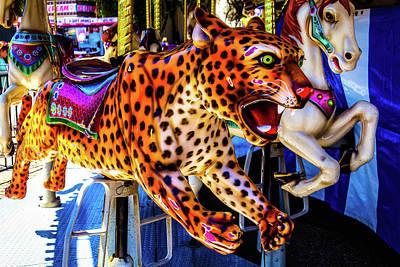 Cheetah Photograph - Carrousel Cheetah by Garry Gay